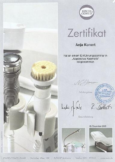 Zertifikat Apparative Kosmetik