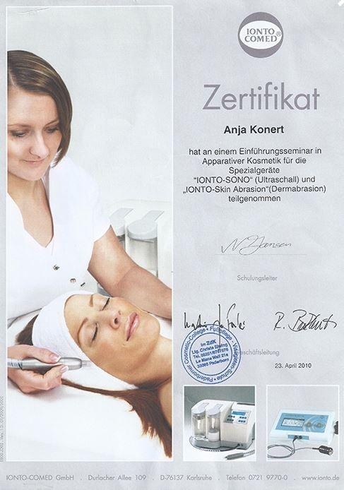 Zertifikat Apparative Kosmetik Spezialgeräte