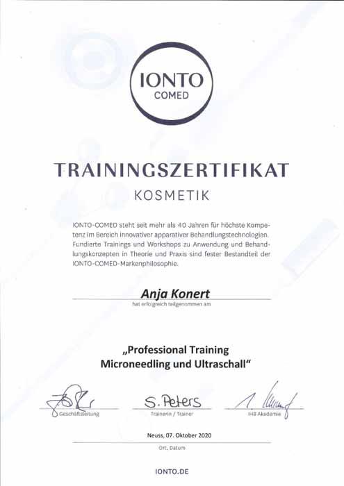 Training Microneedling-Ultraschall